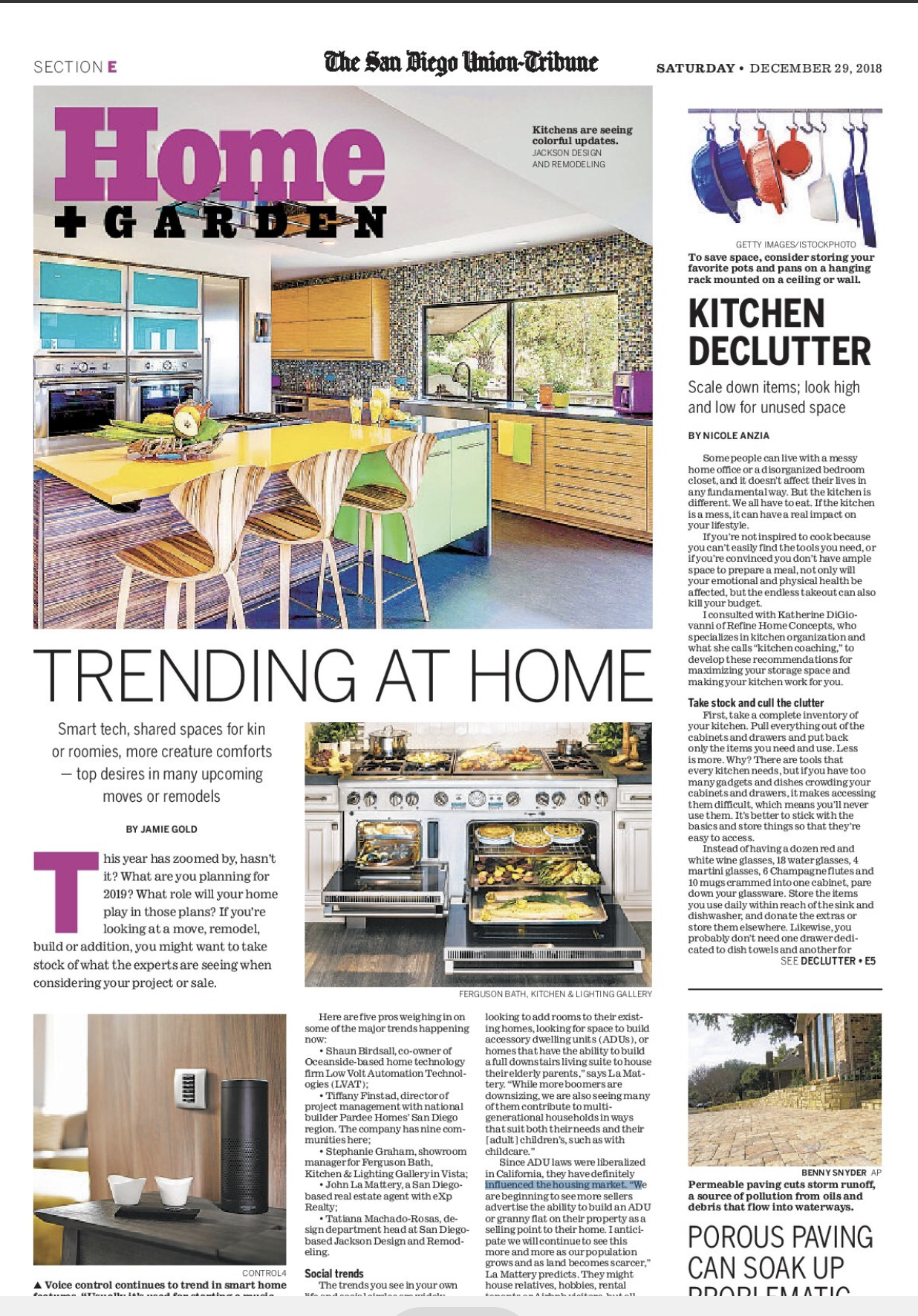 Hot Design Trends for 2019: Client featured in UT story